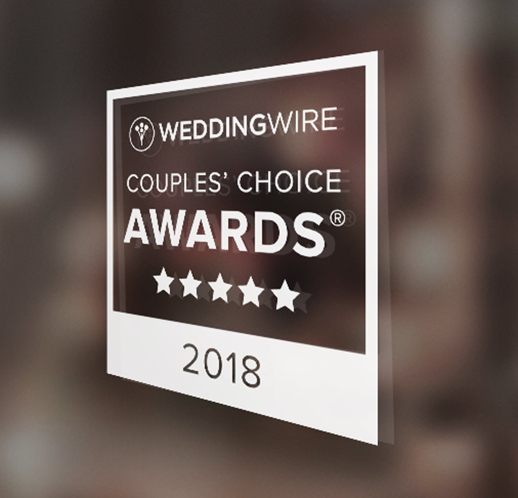 Window cling for the Couples' Choice Award
