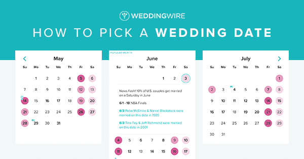 Best Wedding Dates 2019 Pick a Wedding Date for Your Wedding   WeddingWire | WeddingWire