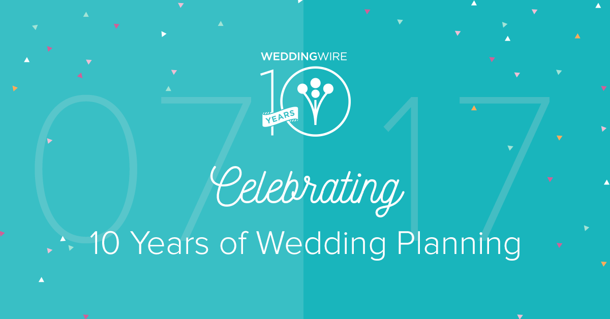 Celebrating 10 years of wedding planning weddingwire junglespirit Images